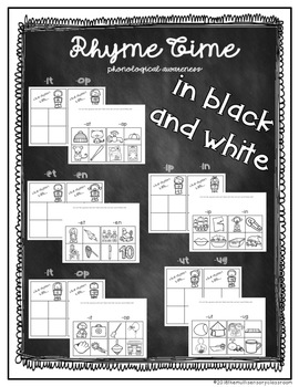 Phonological Awareness- Rhyme Time (word family sort)