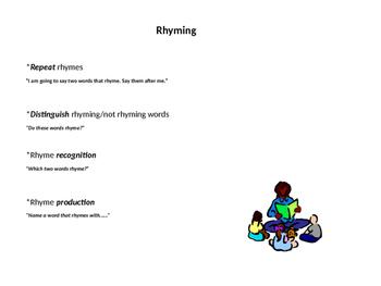 Phonological Awareness- Rhyming