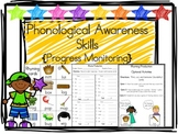 Phonological Awareness Skills {Progress Monitoring Sheets & Activities}