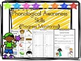 Phonological Awareness Skills {Progress Monitoring Sheets