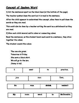 Phonological Awareness Skills Test (PAST) - Teacher Helping Packet