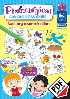Phonological Awareness Skills – Unit 1 - Auditory discrimination