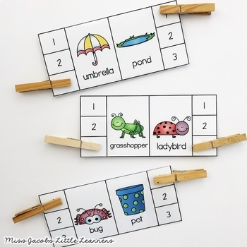 Phonological Awareness: Syllable Center Game