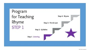 "Phonological Awareness - Step 1 -  ""listening"", ""same"" , and ""different"""