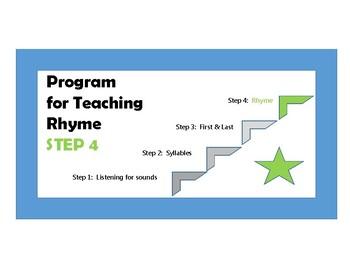 "Phonological Awareness - Step 4 - ""Rhyme"""