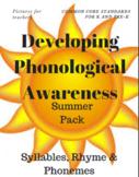 Phonological Awareness Summer Fun