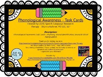 Phonological Awareness Task Cards