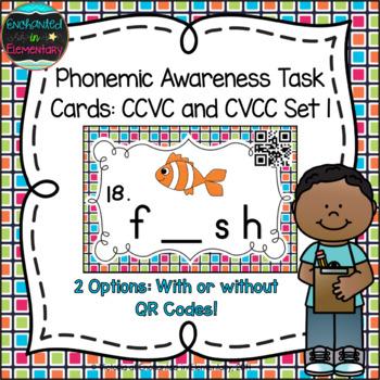 Phonemic Awareness Task Cards: CCVC and CVCC Set 1