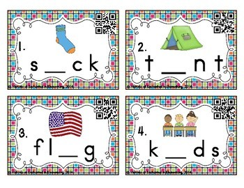 Phonemic Awareness Task Cards: CCVC and CVCC Set 1