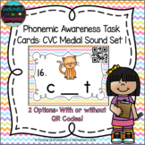 Phonemic Awareness Task Cards: CVC Medial Sound Set 1