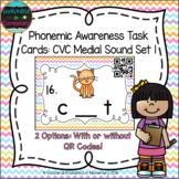 Phonemic Awareness Task Cards: CVC Medial Sound Set 1