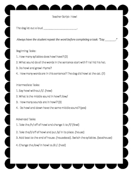 Phonological Awareness Tasks for the Differentiated Classroom