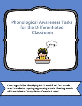 Phonological Awareness Tasks  Orton- Gillingham based