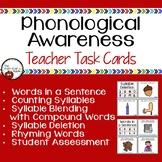Phonological Awareness Teacher Task Cards