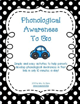 Phonological Awareness To Go: Activities for Parents