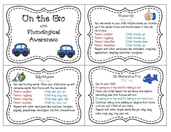 Phonological Awareness To Go Bundle:English and Spanish