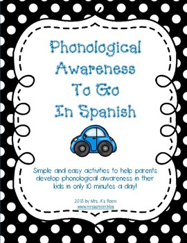 Phonological Awareness To Go in Spanish: Activities for Parents