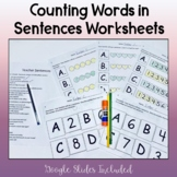 Phonological Awareness Worksheets-Counting Words in Sentences