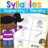Phonological Awareness Worksheets   Syllable Segmenting and Blending