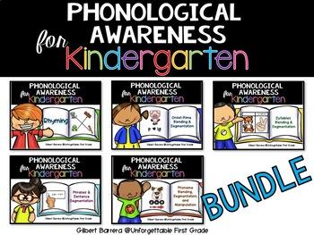 Phonological Awareness for Kindergarten {Bundle}