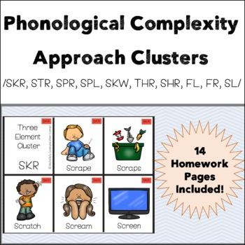 Phonological Complexity Approach - Clusters Flashcards & Activities