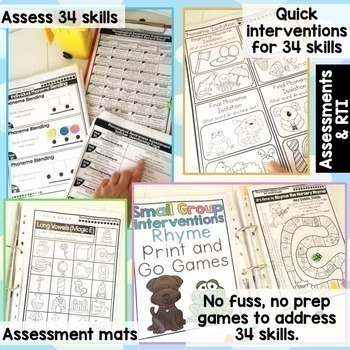 Phonological & Phonemic Awareness Assessment & Intervention BUNDLE