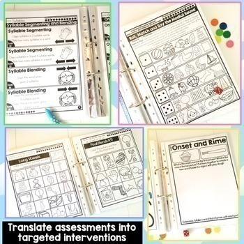 Phonological & Phonemic Awareness Assessment and Intervention Activities BUNDLE