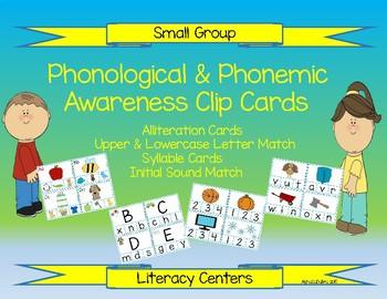 Phonological & Phonemic Awareness Clip Cards