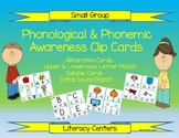 Phonological & Phonemic Awareness Clip Cards