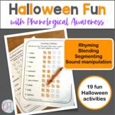 Halloween Phonological Awareness Activities | Speech Therapy