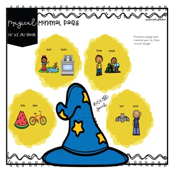 Phonological Process Backing Speech Therapy Minimal Pair Activities