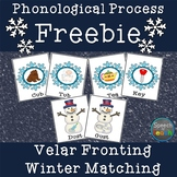 Phonological Process FREEBIE: Velar Fronting Minimal Pair Match Up