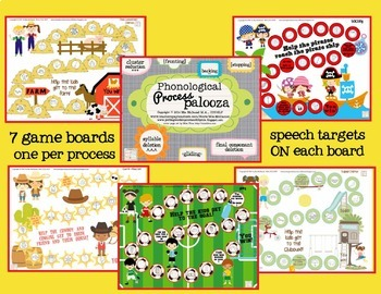 Phonological Process Palooza! {fun therapy activities for common processes}