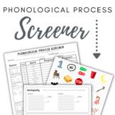 Phonological Process Screener