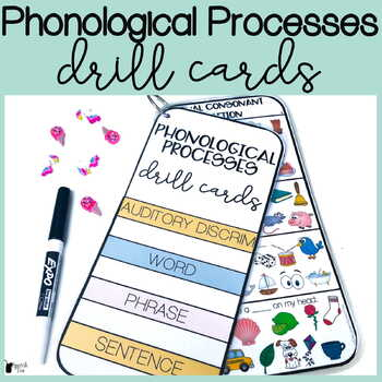 Phonological Processes Drill Cards