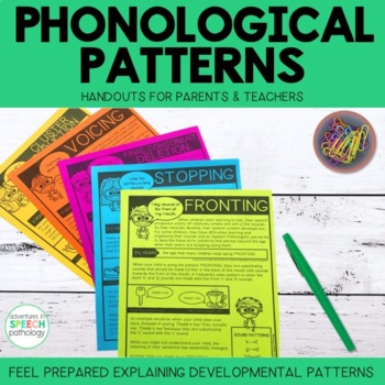 Phonological Processes: Handouts for Parents & Teachers