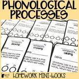 Phonological Processes Homework Mini-books   Speech Therapy Homework