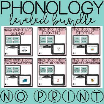 Phonological Processes Progress Monitoring | Screener Bundle