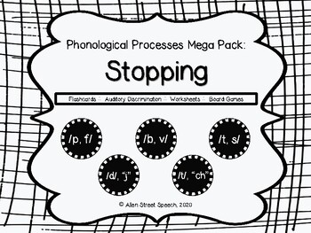 Phonological Processes - Stopping MegaPack
