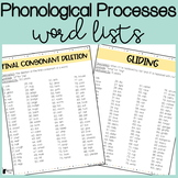 Phonological Processes Word Lists