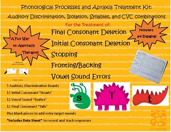 Phonological Processes and Apraxia Treatment Kit