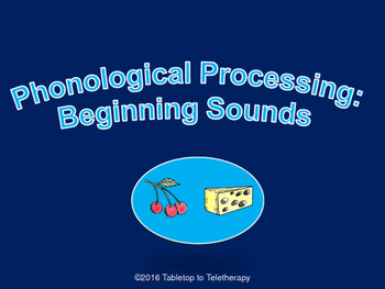 Phonological Processing: Beginning Sounds