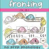 Fronting K and G Phonological Processing Activities for Cycles (No Prep)