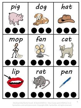 Phonological Segmenting and Blending Activity (CVC words)