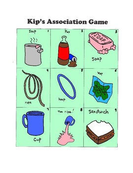 Phonology - Association- Final P- Kip's Association Game