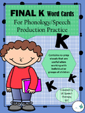 "Phonology (Cycles Approach)/Articulation-Final Velar ""K"" W"