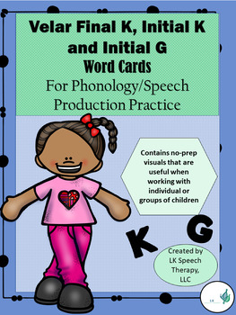 Phonology (Cycles Approach)/Articulation-Velar (Final & Initial K, G) Word Cards