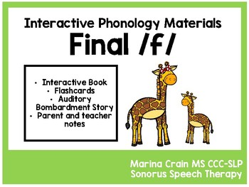 Phonology Cycles - Final f - Interactive Materials