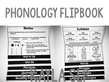 Phonology Flipbook: Cluster Reduction of R-Blends (Blackline, No Cut!)