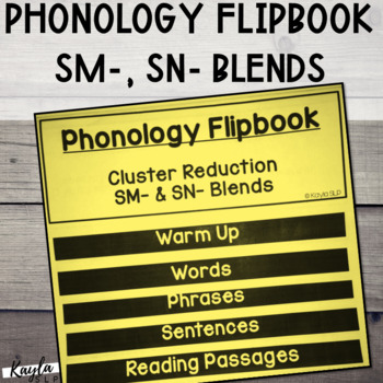 Phonology Flipbook: Cluster Reduction of SN- and SM- (Blackline, No Cut!)